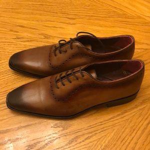 Deckard Oxfords Brown Leather Size 40